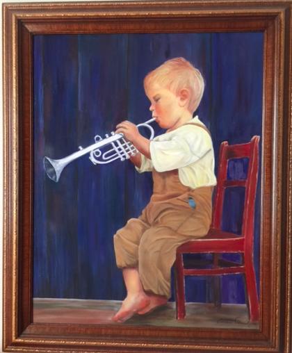 The trumpet boy